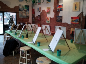 Private Party Painting Area