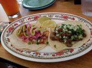 Shrimp Taco and Carne Asada Taco