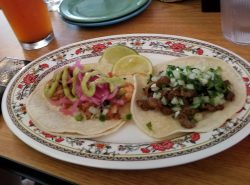 Shrimp Taco and Carne Asada Taco